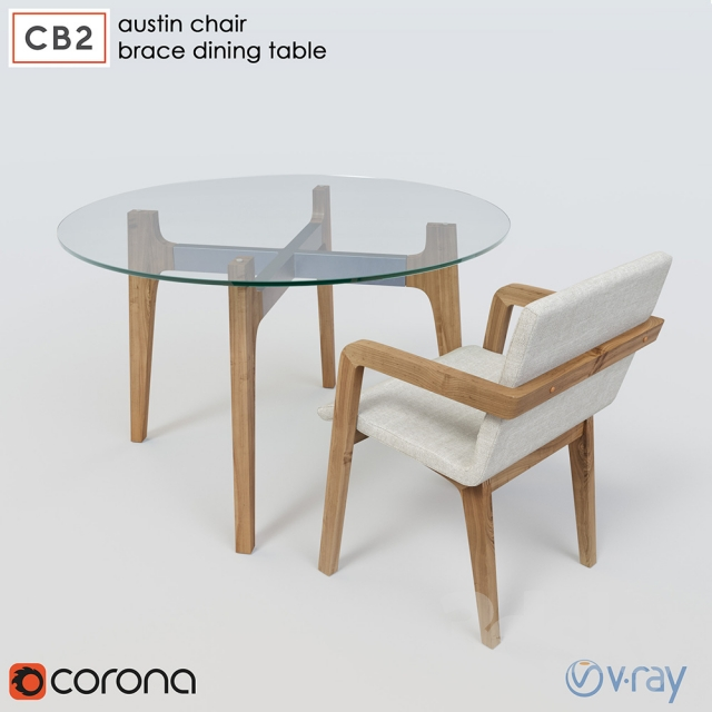 3d Models Table Chair