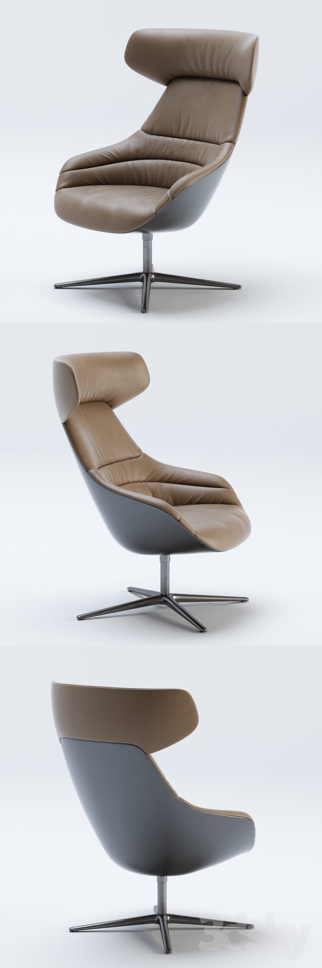 3d Models Arm Chair Walter Knoll Kyo Lounge Chair