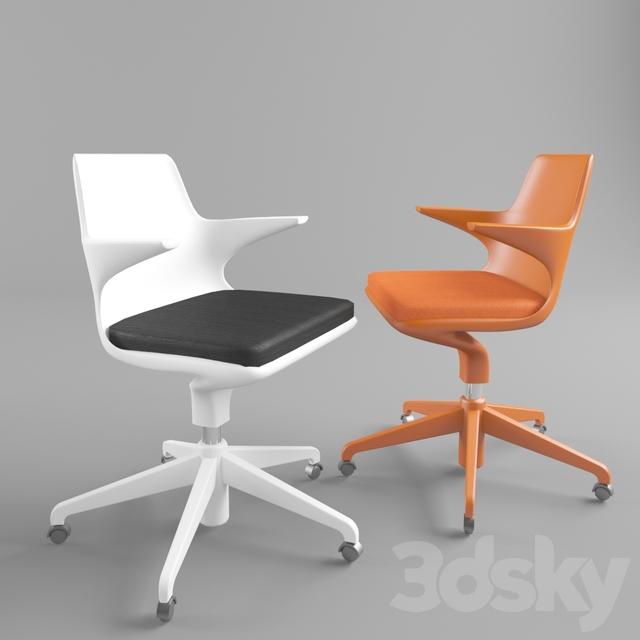 3d Models: Chair   Kartell Spoon Chair