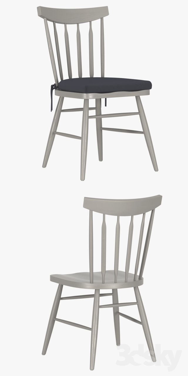 3d Models Chair Crate Amp Barrel Willa Dove Wood Dining