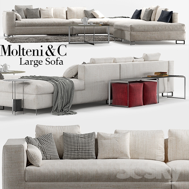 3d models sofa molteni c large sofa. Black Bedroom Furniture Sets. Home Design Ideas