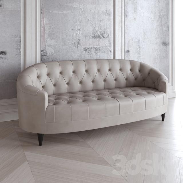 Baker Furniture Oval Sofa