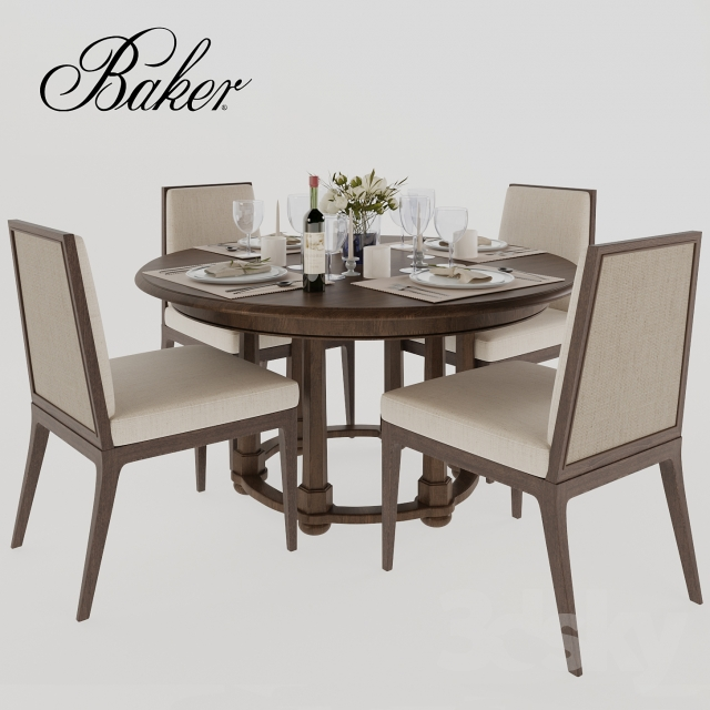 Baker Morris round dining table and Carmel chair