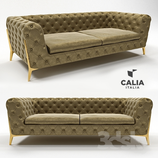 3d models sofa sofa belle epoque 1014 chesterfield from calia italia. Black Bedroom Furniture Sets. Home Design Ideas