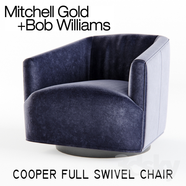 3d Models Arm Chair Mitchell Gold Cooper Full Swivel