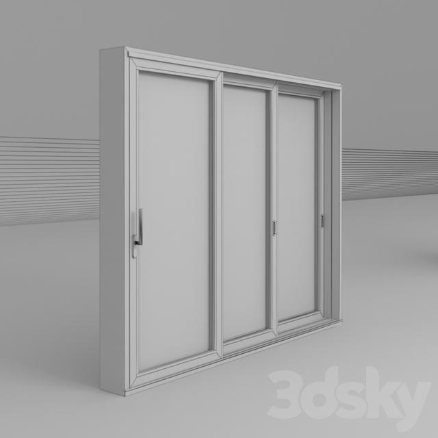 3d models doors sliding door ass 70 hi st 3e. Black Bedroom Furniture Sets. Home Design Ideas