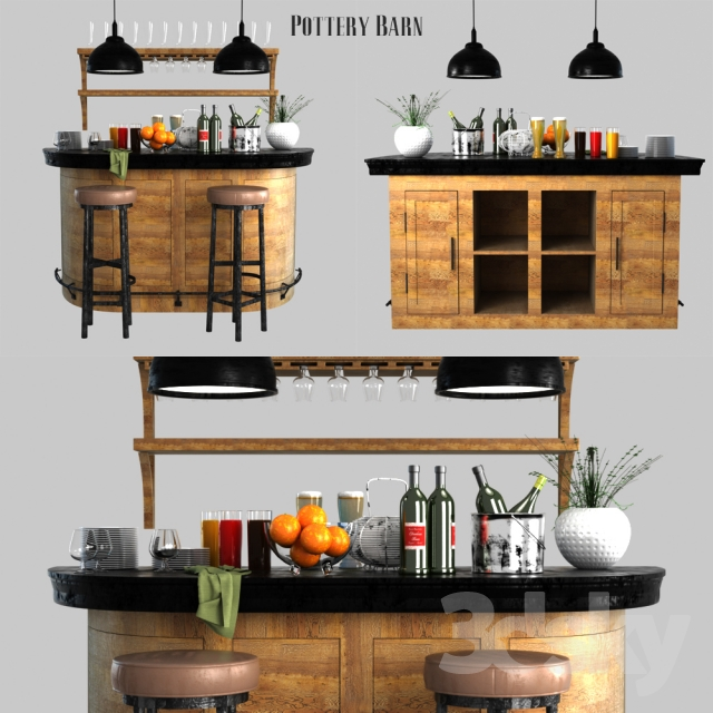 pottery barn lawrence demilune bar cabinet