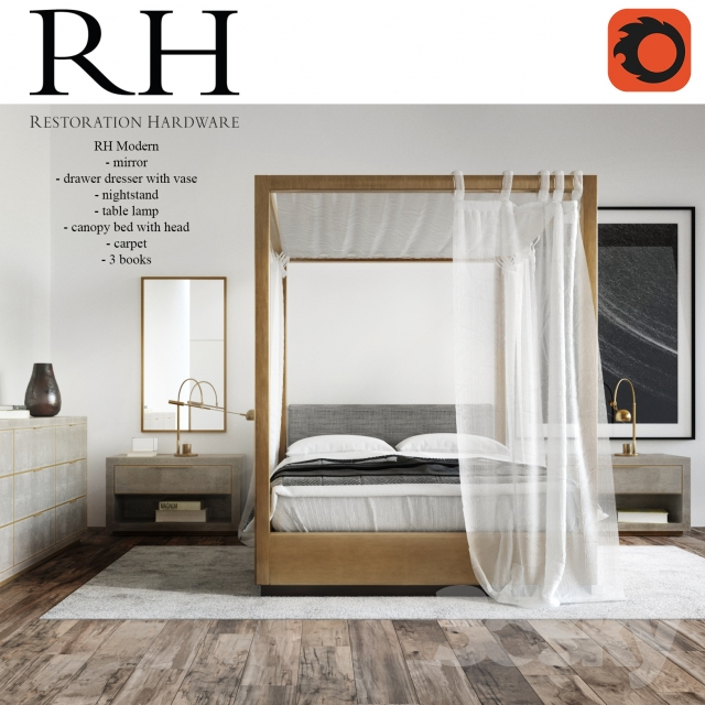 Restoration Hardware Bedroom Colors Cute Black And White Bedroom Ideas Little Boy Bedroom Furniture Girls Bedroom Colour Ideas: Restoration Hardware Modern Bedroom