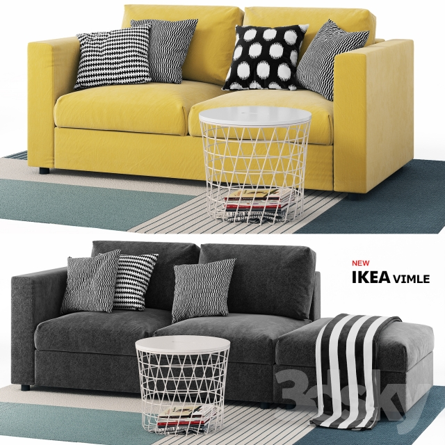 3d models sofa sofas vimle ikea vimle ikea. Black Bedroom Furniture Sets. Home Design Ideas