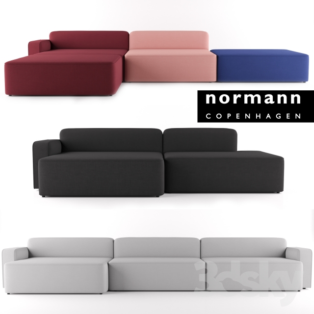 3d models sofa rope sofa by normann copenhagen. Black Bedroom Furniture Sets. Home Design Ideas