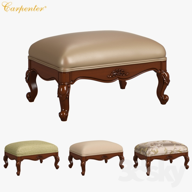 230-1 Carpenter Casual chair foot stool 683x483x305