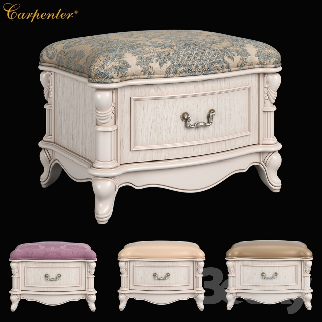 230 Carpenter Casual chair foot stool with one drawer 680x480x469