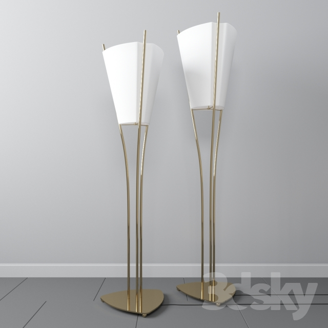 3d models floor lamp floor lamp curve design emilie for Curva 2 floor lamp