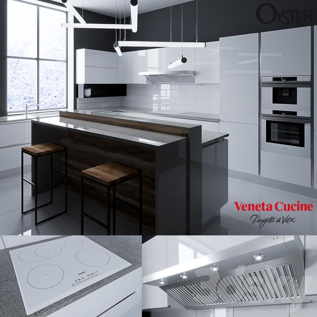 3d models: Kitchen - Oyster - Veneta Cucine