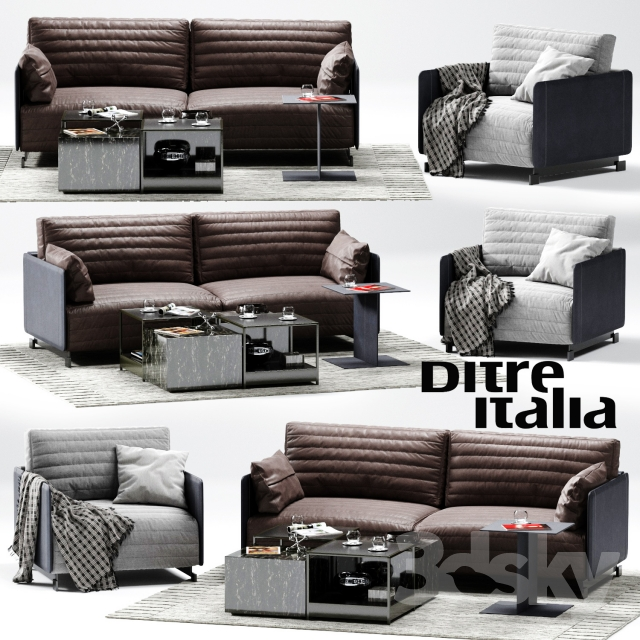 3d models sofa ditre italia bag sofa 02. Black Bedroom Furniture Sets. Home Design Ideas