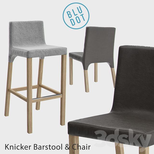 Blu Dot Knicker Barstool And Chair
