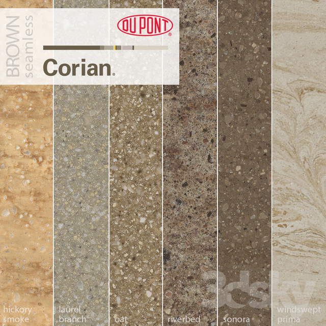 3d Models Stone Dupont Corian Kitchen Countertops Brown 1