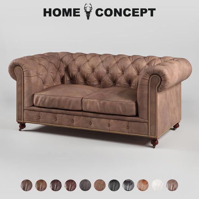 3d models sofa om double sofa kensington leather trim for 2 seater divan