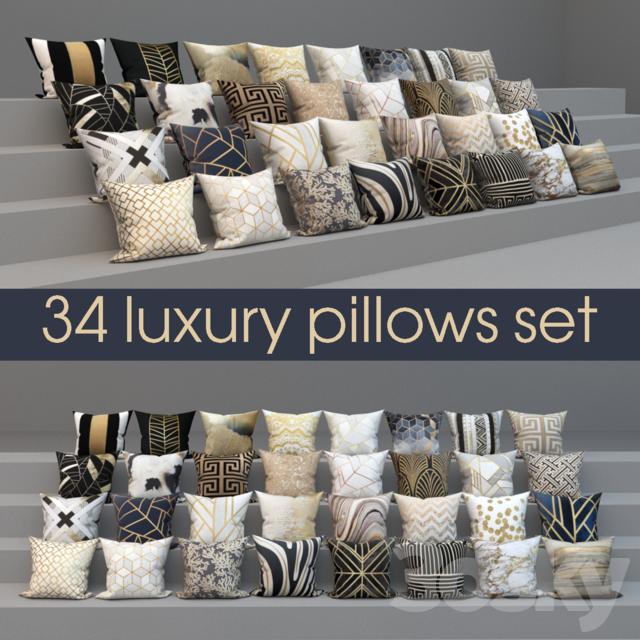 34 Luxury White Master Bathroom Ideas Pictures: Set Of Luxury 34 Pillows, Set Of 34