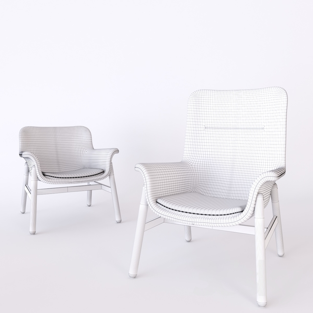 3d Models Arm Chair Ikea Vedbo