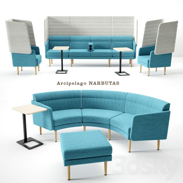 3d Models Sofa Modules Arcipelago Narbutas