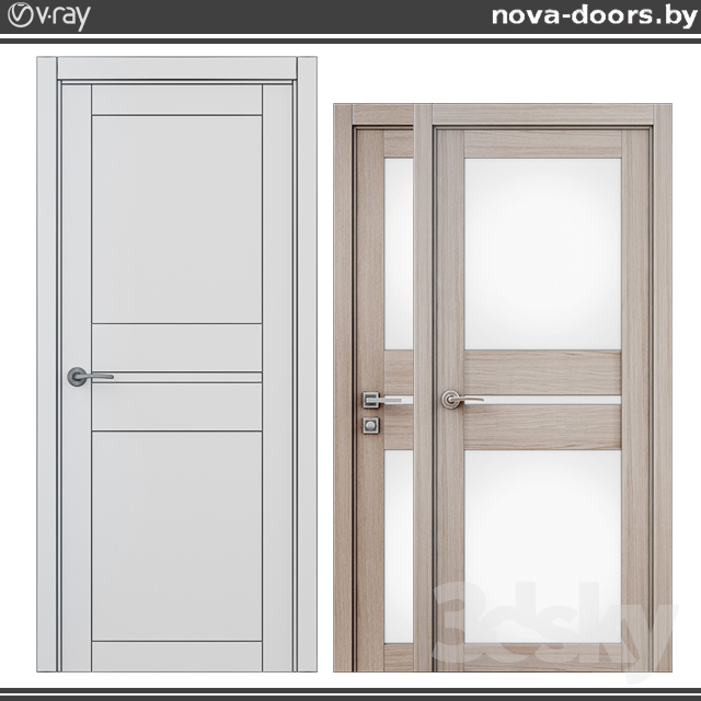 3d Models Doors Doors Dominica Eco Blanket 600 Oak Smoky