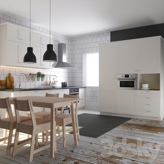 3d models kitchen kitchen ikea sovedal s vedal. Black Bedroom Furniture Sets. Home Design Ideas