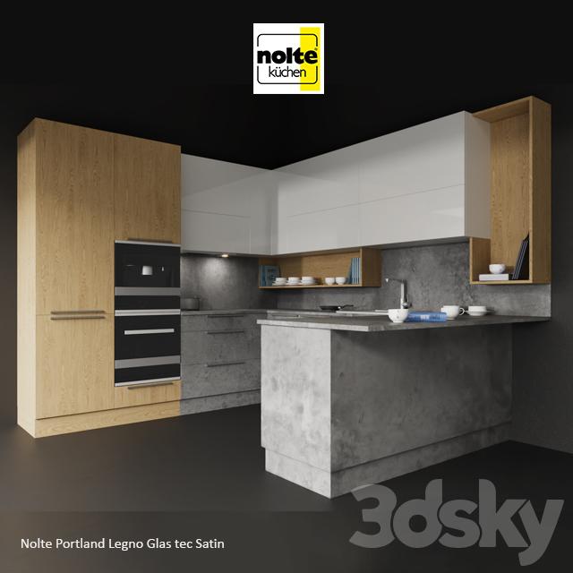 3d Models Kitchen Nolte Portland Legno Glas Tec Satin