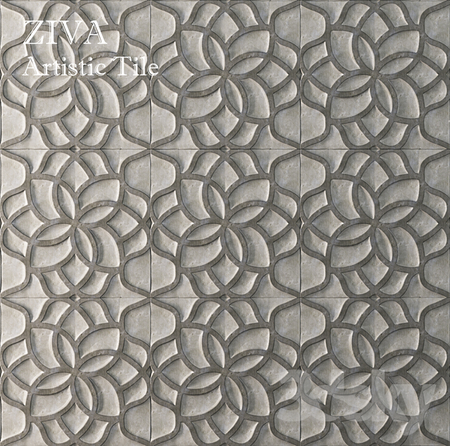 ZIVA LOTUS GRIS | Artistic Tile