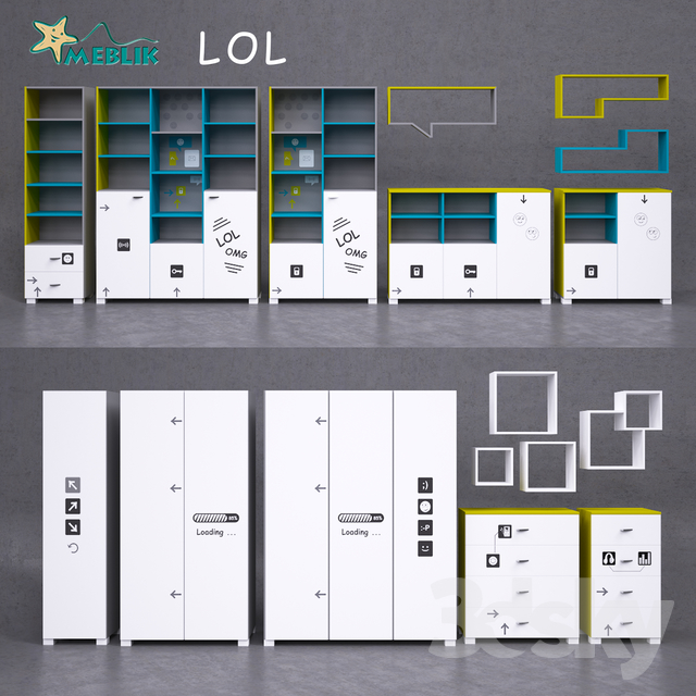Youth furniture LOL-Cases, racks