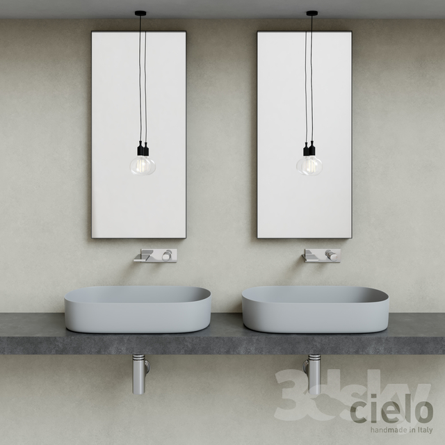 Ceramica Cielo Lavabo Shui.3d Models Wash Basin Ceramica Cielo Shui Comfort