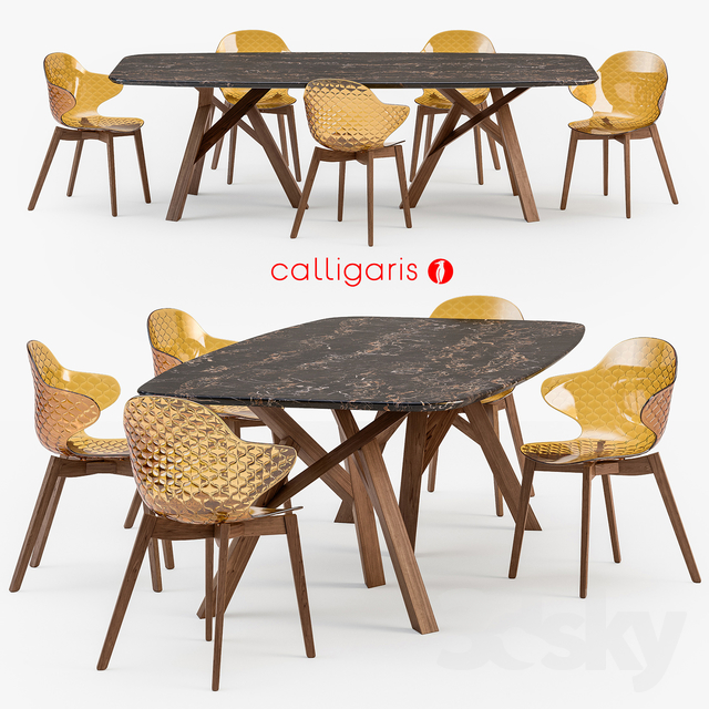 3d models table chair calligaris jungle table saint for Table design jungle