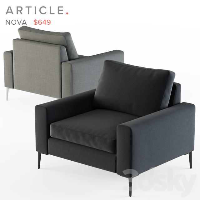 3d Models Arm Chair Article Nova