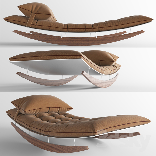 3d models other soft seating lounge model for Chaise quadriceps