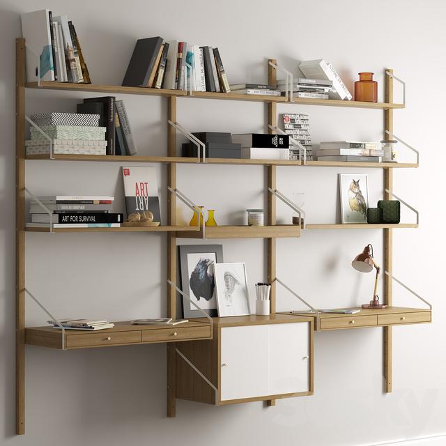 3d models other shelf system svalnas ikea. Black Bedroom Furniture Sets. Home Design Ideas