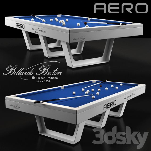 """Billards Breton 3d models: billiards - billiard table """"aero""""billards breton"""