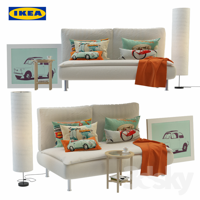3d models: Sofa - Ikea furniture collection