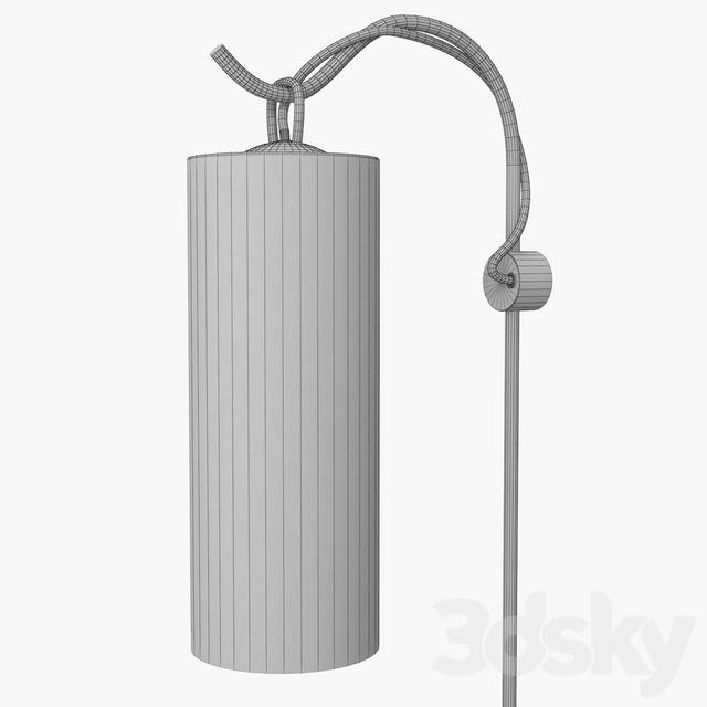 3d models: Wall light - Articolo lighting - Staff wall sconce