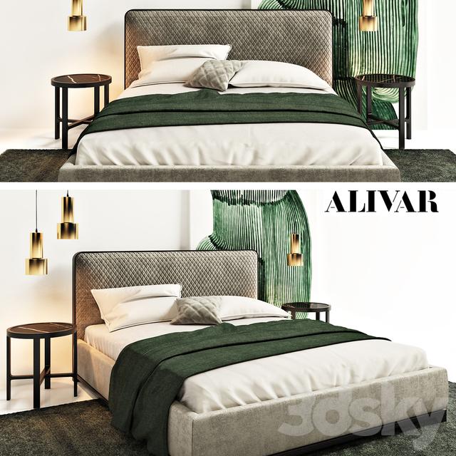 3d Models Bed Bali Bed By Alivar