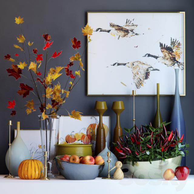 Autumn decorative set 3