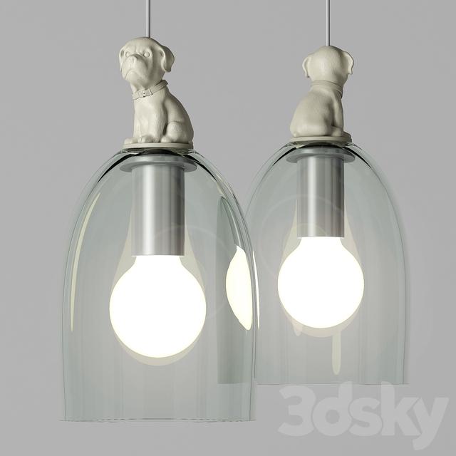 "pendant light ""GLASS DOG PENDANT"""