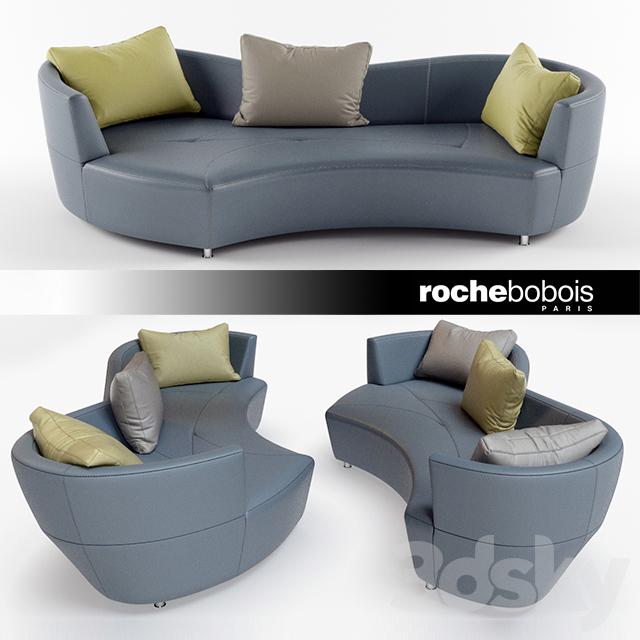 3d models sofa digital large round 3 seat sofa by roche bobois - Sofa rock en bobois ...