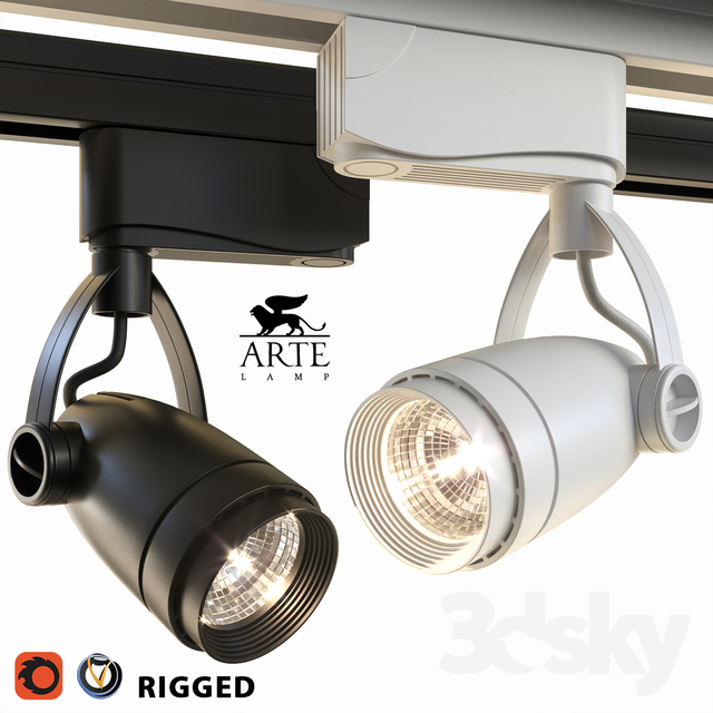 Arte Lamp Track Lights A5910PL-1 Black and White