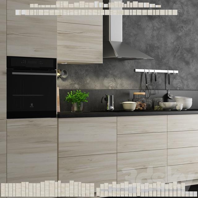 Mobile Kitchen Island 3d Model: Kitchen Ikea Method Askersund