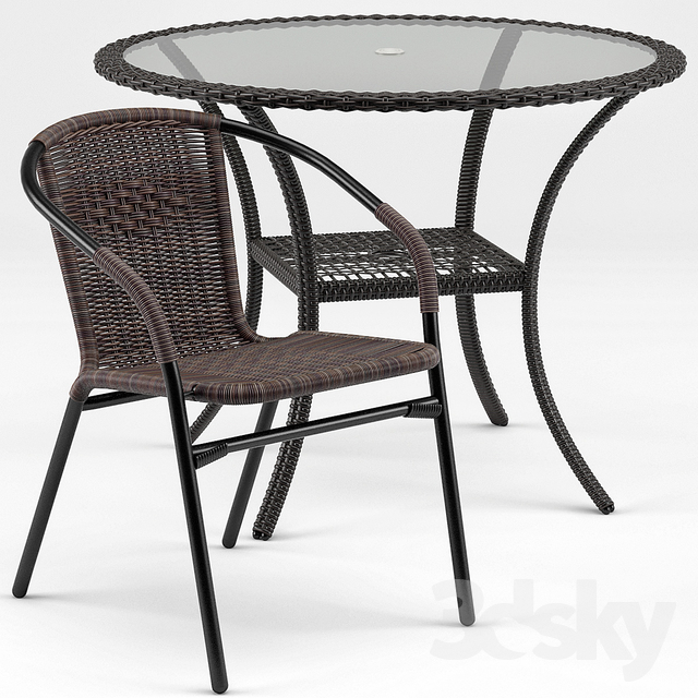 Brigance Bistro Table, Acadian DIning Chair