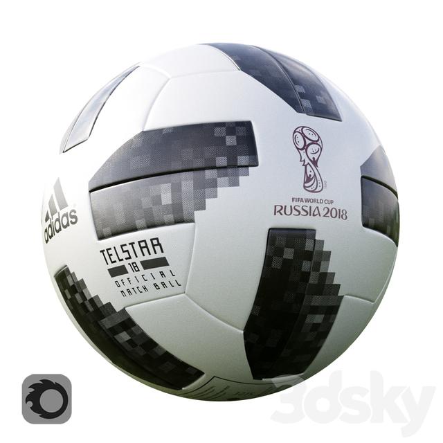 3d models  Sports - Match ball official World Cup 2018 1f416564e