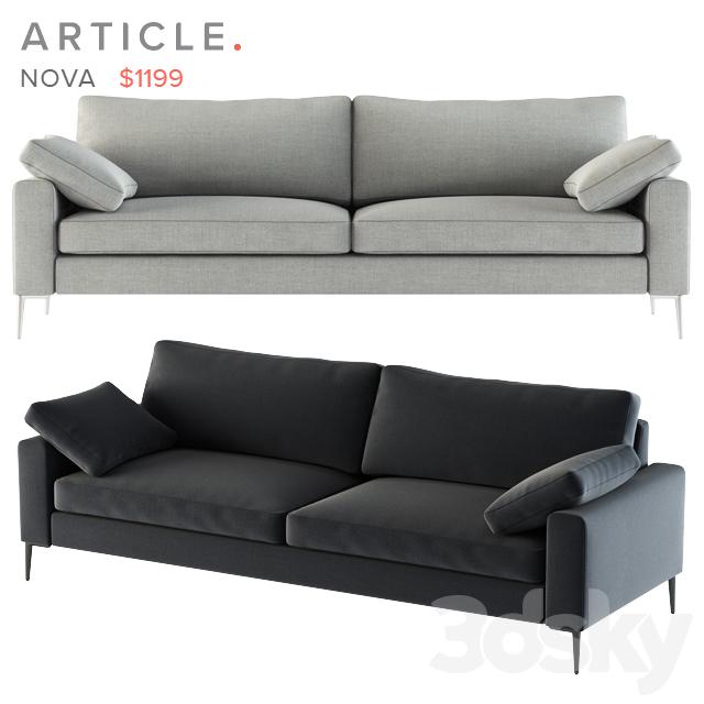 3d Models Sofa Article Nova