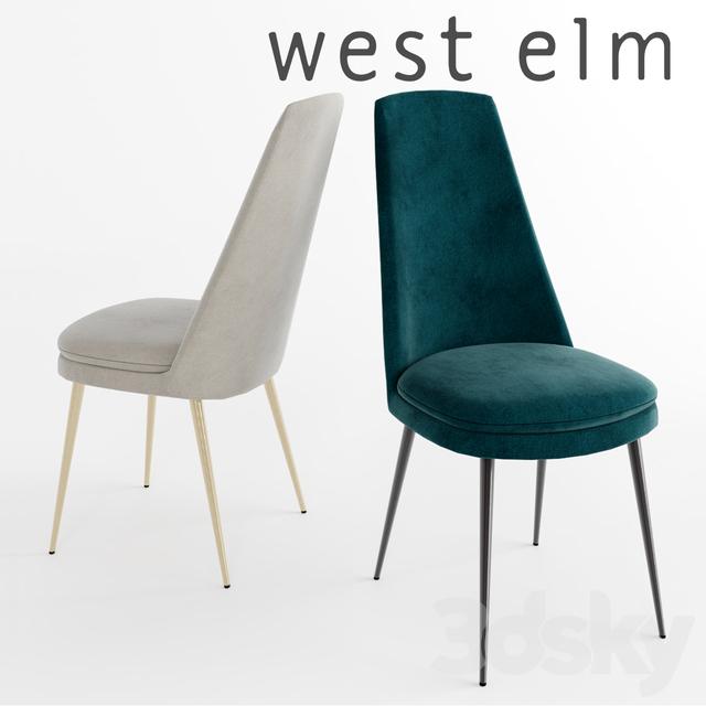 WEST ELM Finley High Back Velvet Dining Chair