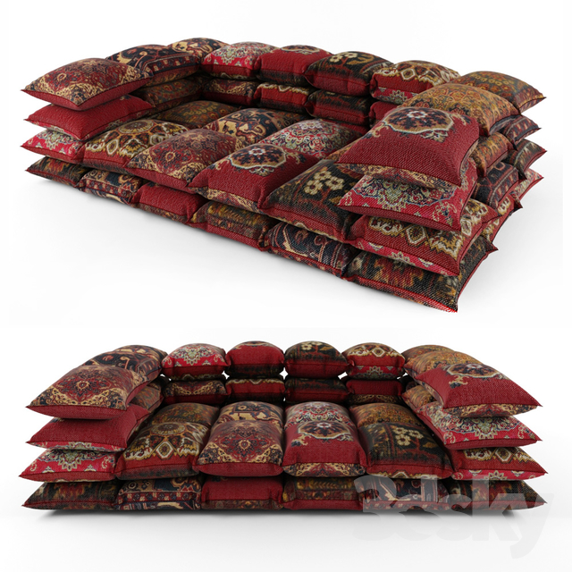 Ottoman from pillows