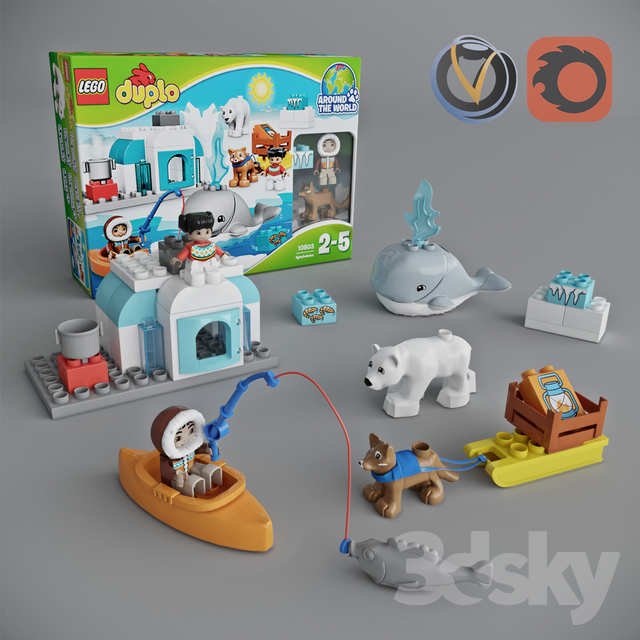 3d Models Toy Lego Duplo Around The World Arctic